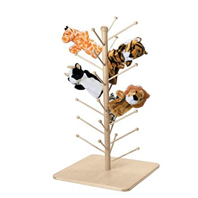 Marvel Education Wooden Puppet Tree, Stand Holds 26 Puppets: Industrial & Scientific