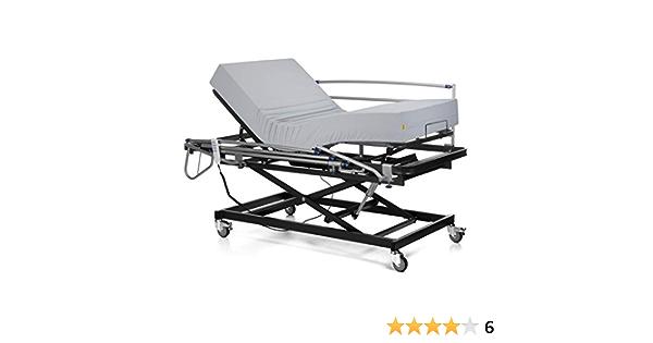 Ferlex - Cama articulada con Carro Elevador   Colchón Sanitario viscoelástico   Barandillas abatibles (90x190)
