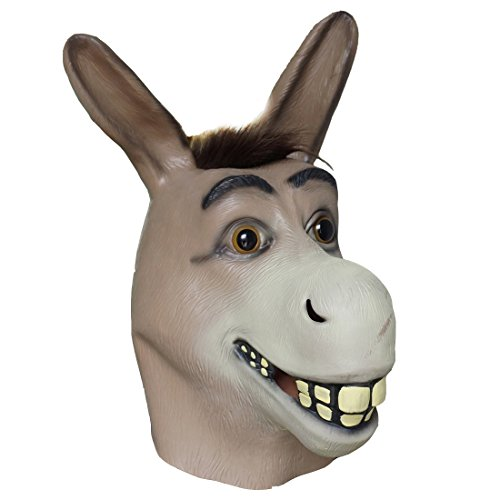 Donkey Head Mask Cosplay Costume Prop Halloween Party