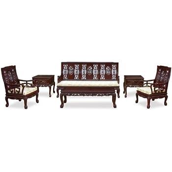 Amazon.com: China Muebles Online Rosewood Salón (6 unidades ...