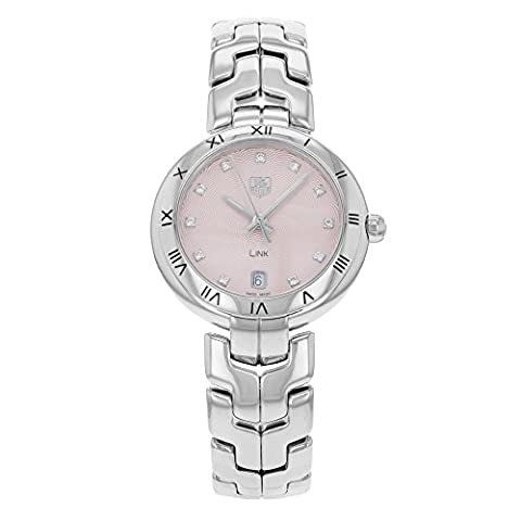 Tag Heuer Link Pink Dial Stainless Steel Quartz Woman's Watch WAT1313.BA0956 (Pink Tag Watch)