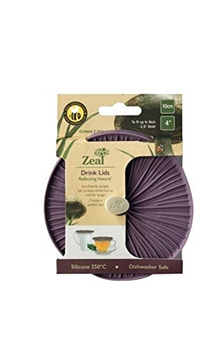 """Zeal Reflecting Nature 4"""" Mushroom Push to Seal Silicone 2pk Drink Lids (Purple)"""