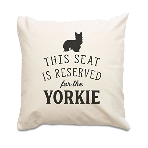 NEW - RESERVED FOR THE YORKIE - Yorkshire Terrier Cushion Cover - Dog Gift Present Xmas Birthday