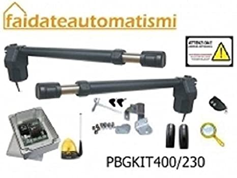 Motori Per Cancelli A Due Ante.Faidateautomatismi Kit Completo Automazione Cancello Battente A Due