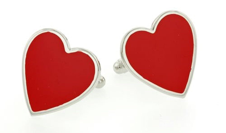 JJ Weston Heart Shaped Cufflinks. Made in the USA.