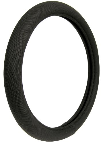 (Custom Accessories 38451P Black Memory Foam Soft Grip Steering Wheel Cover)
