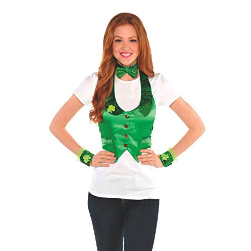 Amscan St. Patrick's Day Green Satin Leprechaun Kit | Party Costume, 3 Ct.