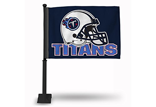 NFL Tennessee Titans Car Flag, Navy, with Black Pole