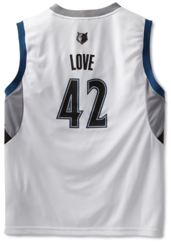fan products of NBA Minnesota Timberwolves Kevin Love Youth 8-20 Replica Home Jersey, Medium, White