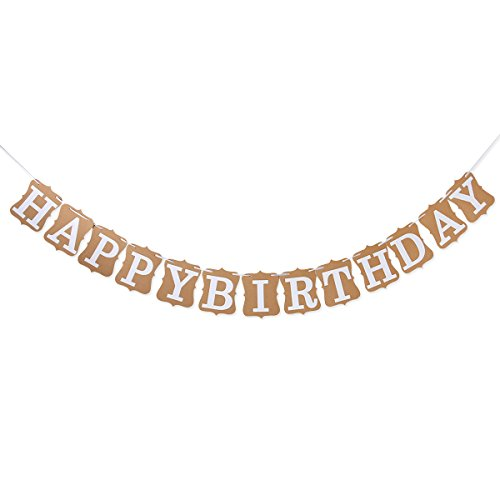 Tinksky Vintage Birthday Cardboard Decoration