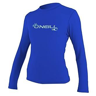 O'Neill Women's Basic Skins Upf 50+ Long Sleeve Sun Shirt, Tahitian Blue, X-Large