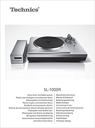 Technics SL-1000R Turntable Owners Instruction Manual Reprint: Every