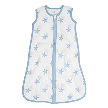 aden by aden + Anais Classic Sleeping Bag, 100% Cotton Muslin, Wearable Baby Blanket, Dolls, Stars, Medium, 6-12 Months