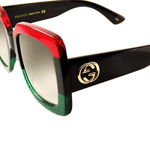 efbe85fdb19bab Amazon.com  Gucci 0083S 003 Blue Havana Brown GG0083S Sunglasses  Clothing