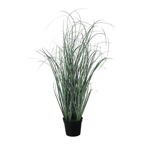 Deutschmade Artificial Plant, Fake Grass Bush including black Pot, 20'' by Deutschmade