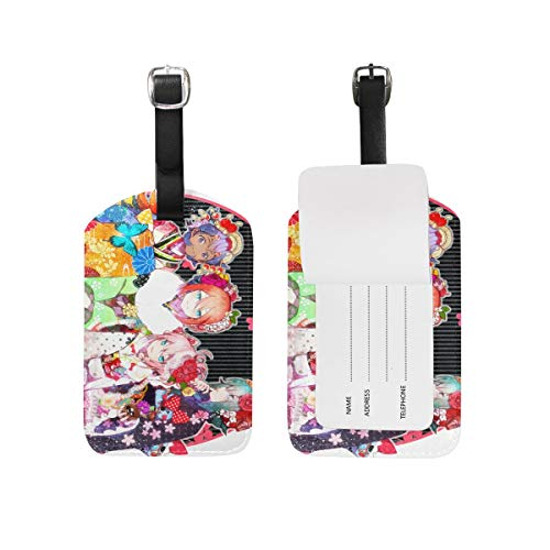 Inazuma Eleven GO Cartoon Luggage Tag Anime DIY Suitcase Tag PU Travel ID Label Unique Travel Bag Labels