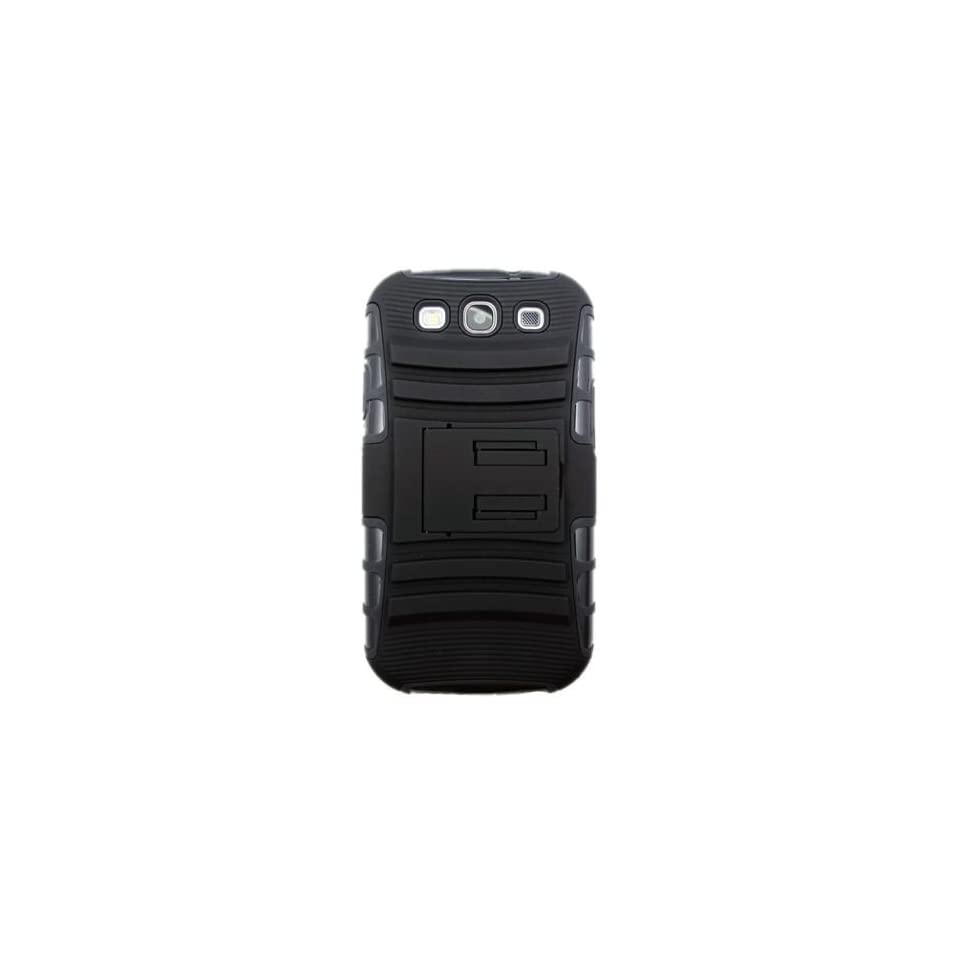 Cruzerlite Black/Black Spi Force Dual Protection Case for Samsung Galaxy SIII (Sprint, AT&T, T Mobile, US Cellular, Verizon)