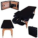 Massage Imperial Black Charbury 2-Section Portable Massage Table Bed Couch Spa