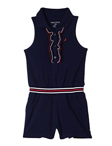 Nautica Baby Girls Fashion Romper, Picot Navy, 24M (Nautica Brillen)