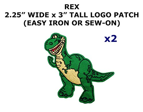 2 PCS Rex Dinosaur Toy Story Cartoon Theme DIY Iron / Sew-on Decorative Applique (Toy Story Alien Costume Diy)