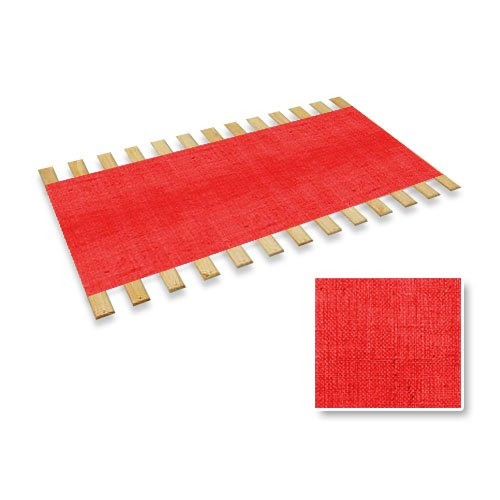 The Furniture Cove Red Burlap Jute Twin Size Bed Slats Bunkie Board Support Roll ACME2529-BURLAP-ROLL-RED 29#