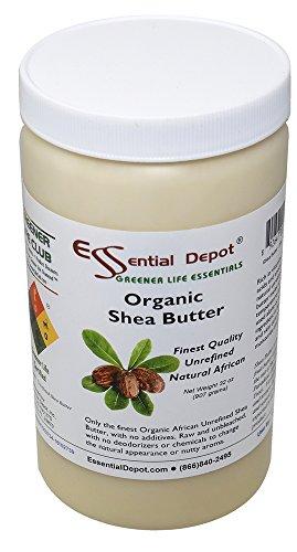Shea Butter - 32 Oz. - 2 lbs - Organic - Premium Unrefined - In resealable HDPE Jar