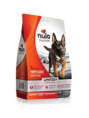 Nulo Puppy & Adult Freestyle Limited Plus Grain Free Dry Dog Food: All Natural Limited Ingredient Diet For Digestive & Immune Health - Allergy Sensitive Non Gmo (Turkey Recipe - 4 Lb Bag)