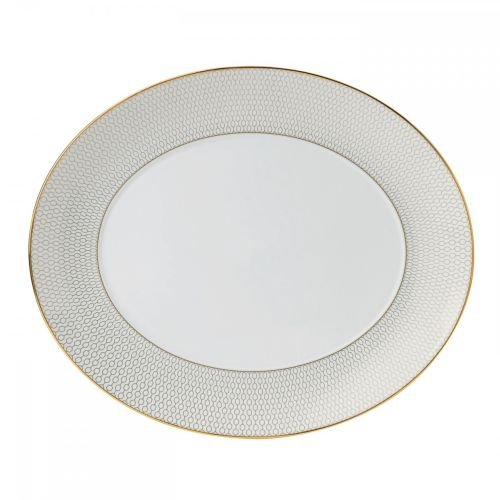 Wedgwood Arris Oval Serving Platter, 13''