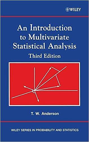 Multivariate Statistical Analysis