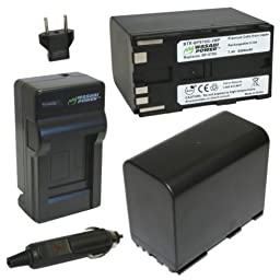 Wasabi Power Battery (2-Pack) and Charger for Canon BP-970G, BP-975 and Canon EOS C100, EOS C100 Mark II, EOS C300, EOS C300 PL, EOS C500, EOS C500 PL, GL2, XF100, XF105, XF200, XF205, XF300, XF305, XH A1S, XH G1S, XL H1A, XL H1S, XL2