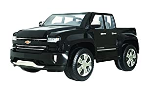 Rollplay 12V Chevy Silverado Truck Ride On Toy, Battery-Powered Kid's Ride On Car - Black