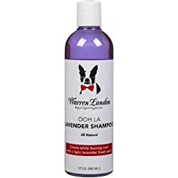 Warren London - Calming Lavender Shampoo for Pets - Contains Aloe Vera, Vitamins, Coconut, and Lavender to Calm Pet & Nourish Coat - Detergent and Paraben Free - 17 oz - Made In USA