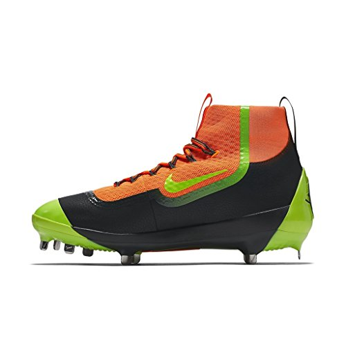 Nike Mens Air Huarache 2kfilth Elite Mid Baseball Cleat Total Orange / Volt-anthracite