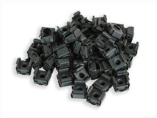 RackGold Black M6 Cage Nuts 50 Pack - USA Made