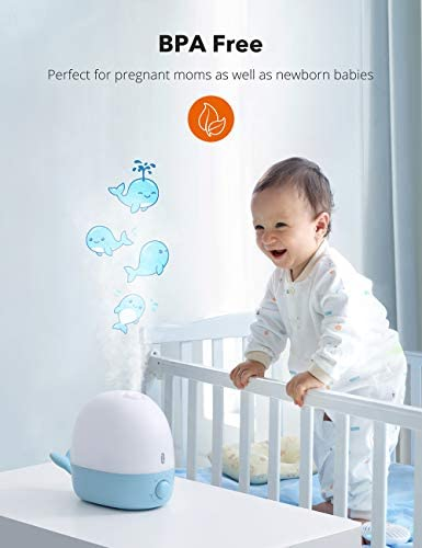 41DEBD3 kDL. AC - Humidifiers For Babies, TaoTronics 3-IN-1 Humidifier With Essential Oil Diffuser And Night Light, 2.5L Cool Mist Humidifier For Bedroom, BPA-Free, 26dB Whisper Quiet, Easy To Clean
