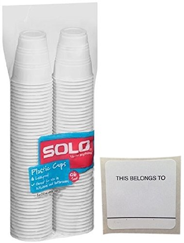 Solo plastic ounce stickers White product image