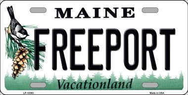 Freeport Maine Metal Novelty License Plate - Shops Maine Freeport