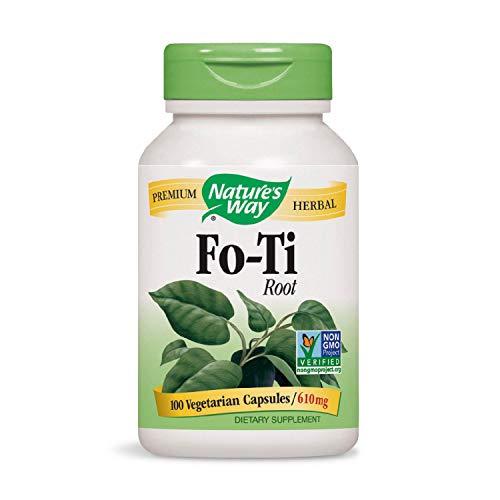 Nature's Way Fo-Ti Root, 100 Capsules, 610mg (Pack of - Fo 100 Capsules Root Ti