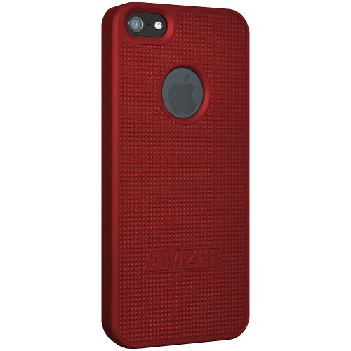 Amzer Coque rigide à clipser pour iPhone 5 (Rouge)