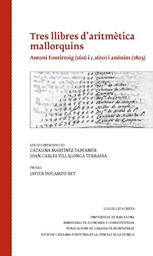 Descargar Libro Tres Llibres D'aritmètica Mallorquins Catalina Martínez Taberner