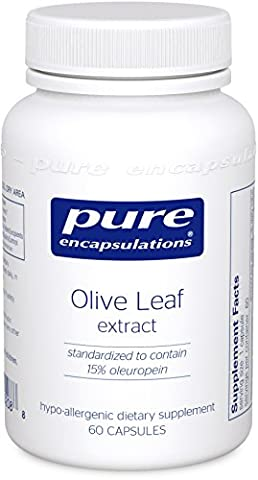 Pure Encapsulations - Olive Leaf Extract - Hypoallergenic Supplement Supports Immune System and Healthy Intestinal Environment* - 60 Capsules