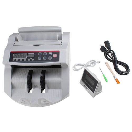 AGPtek Bill Money Counter with Display/Currency Cash Counter Bank Machine, UV(ultraviolet) and MG(magnetic) Counterfeit Detector by AGPtek