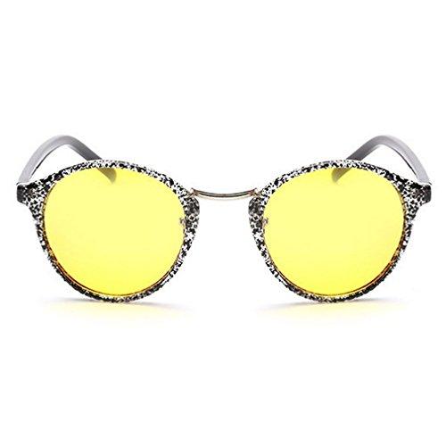 LOMOL Unisex Fashion Retro Round Radiation protection Night Vision Anti-Blue Goggles - Oakleys Expensive Most