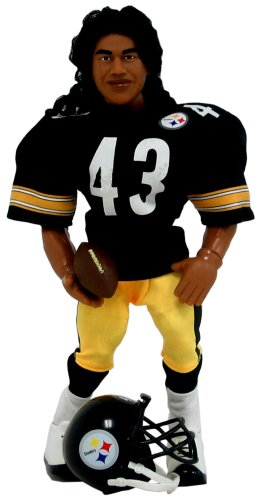 NFL Action Figure - Troy Polamalu in a Pittsburgh Steelers Uniform