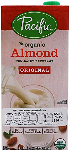 Pacific Foods Organic Original Almond Non-Dairy Beverage, 32 fl oz (Pacific Foods Almond Milk)