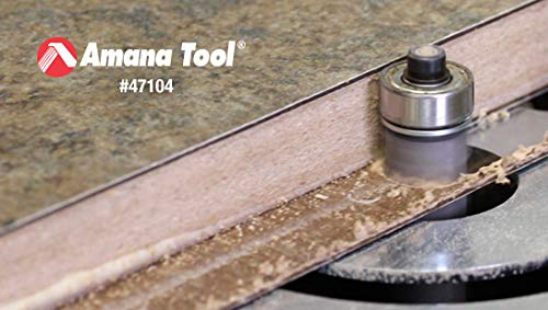 Amana Tool 47126 Flush Trim Extra Long with Ball Bearing Guide 1/2-Inch Diameter by 2-Inch Cutting Height by 1/2-Inch Shank Carbide Tipped Router Bit by Amana Tool (Image #3)