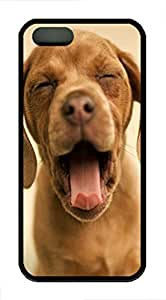 Yawning Cute Puppy - iPhone 5S Case Funny Lovely Best Cool Customize Black Cover