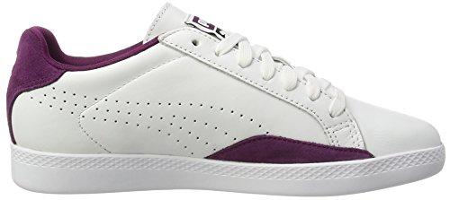 Blanc Classic Match dark Purple Lo Femme White Sneakers Puma Basses BYxv7ww