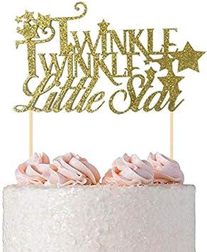 Amazon.com: Adorno para tartas con purpurina dorada Twinkle ...