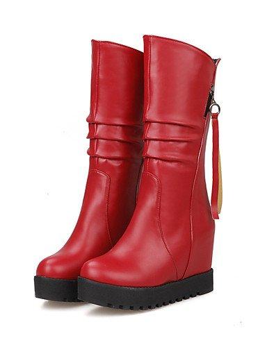 Stivali alla Stivali Rosso Tacco Uk1 Marrone con e zeppa moda tondi casual Uomo Ufficio XZZ lavoro Vestito Nero us3 Cn32 bianco Eu33 5 5 Nero qAOaZWfx
